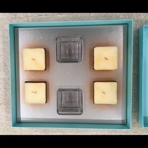 NIB Tiffany & Co. 2 Crystal Votives With 4 Candles